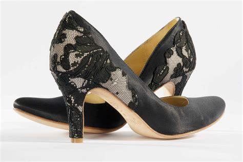 hey wedding shoes vintage inspired bridal heels black
