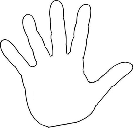 how to a to high five five finger sticks clipart clipground