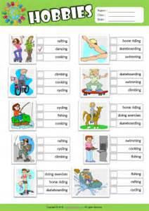 Hobbies esl printable worksheets for kids 2