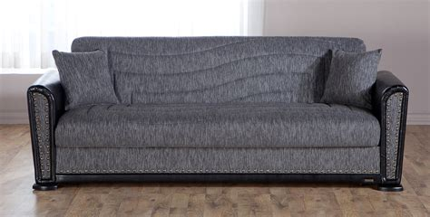 alfa diego gray convertible sofa bed by sunset