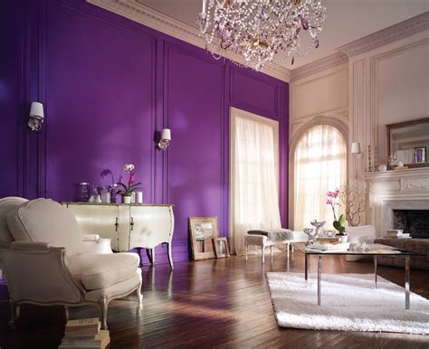 purple livingroom living room decorating ideas feature wall living room