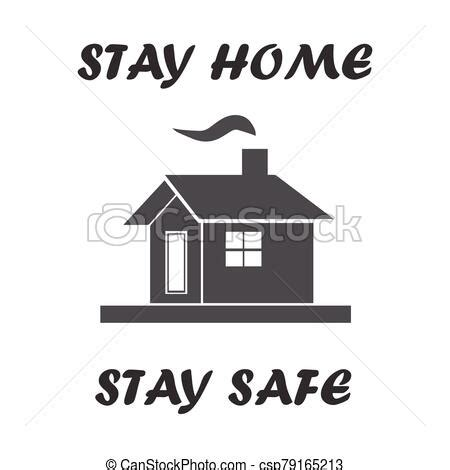 stay home stay safe icon vector  protected