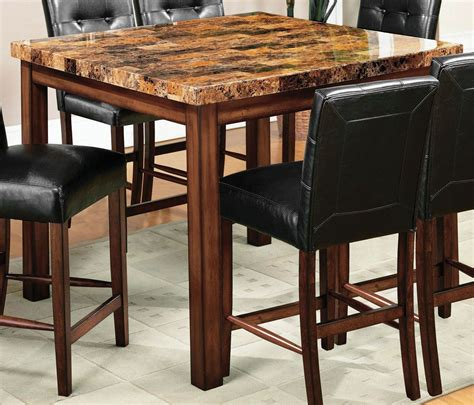 faux marble counter height table rockford ii faux marble square counter height table from