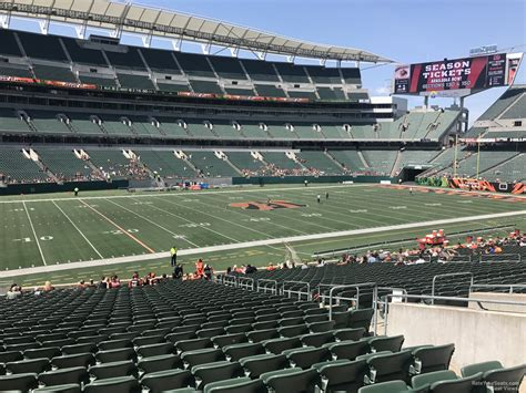 what is 144 section paul brown stadium section 144 rateyourseats com