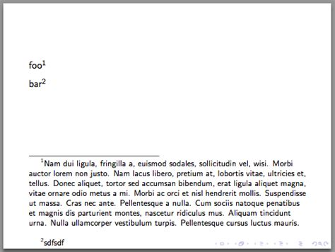footnote format in powerpoint different line spacings for main text and footnotes in