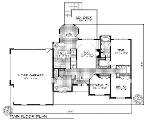 1700 square feet traditional style house plan 3 beds 2 5 baths 1700 sq ft