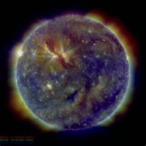 what color is the sun in space space weather may 2010