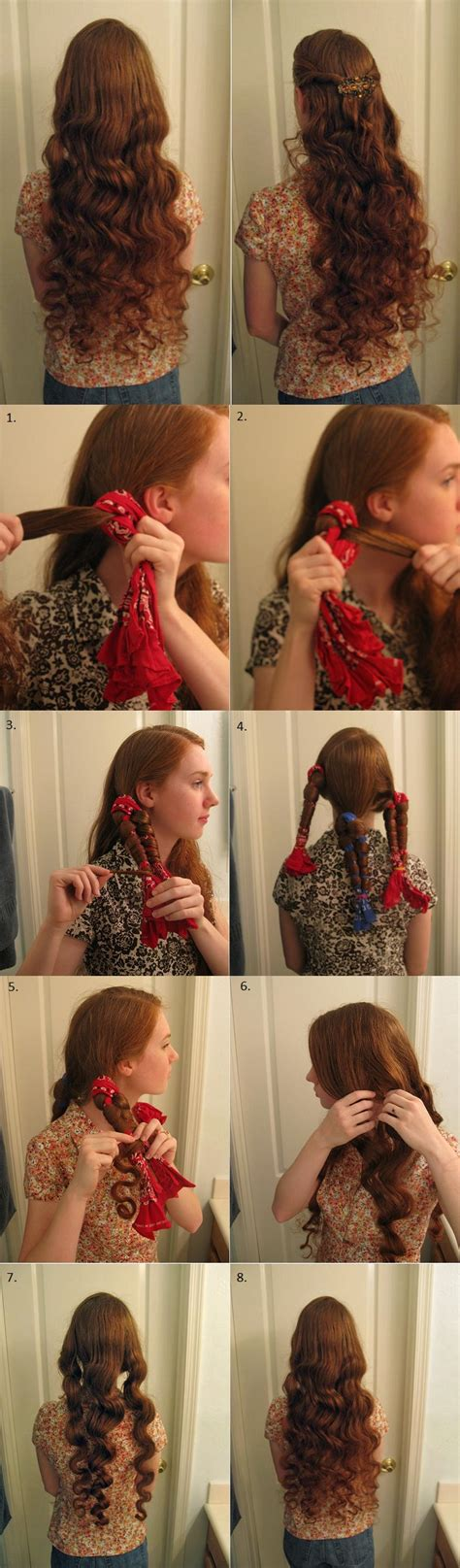 diy hairstyles without heat no heat curls alldaychic