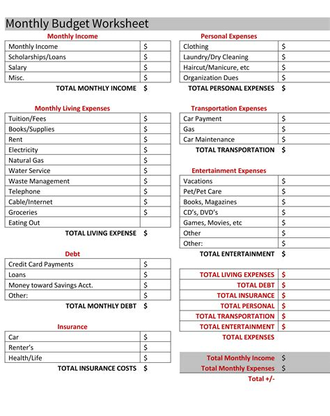 moving budget template moving budget worksheet worksheets for all and