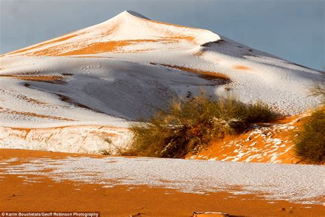 snow in sahara snow in sahara desert for third time in 40 years daily