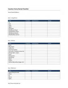 rental inventory checklist template vacation home rental checklist template free microsoft