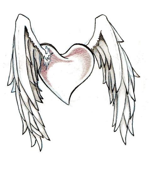 heart with wings tattoos hearts and wings designs cool tattoos bonbaden
