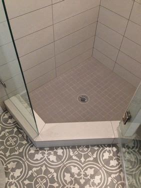 Corner shower bayahibe tiles from the cement tile shop guest bathroom in a 5x5 space the