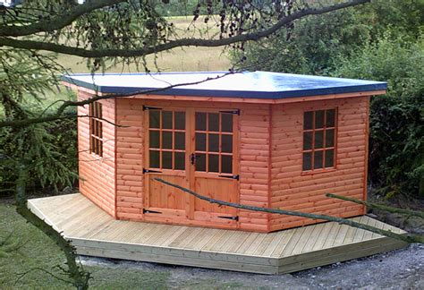 Corner Summerhouse With Shed by Mig 10 X 8 Pent Shed Plans Using Pallets Guide