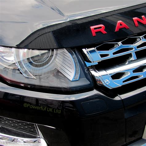 chrome range rover evoque chrome front grille for range rover evoque pure prestige