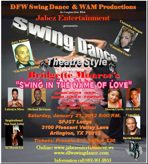 dfw swing dfw swing dance theatre style a popular stage play