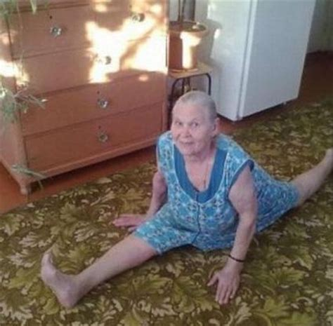 Young Old Lady Meme - 80 years old grandma doing splits funny pictures