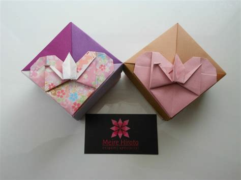 Washi Origami - meire hirata origami specialist box with origami tsuru