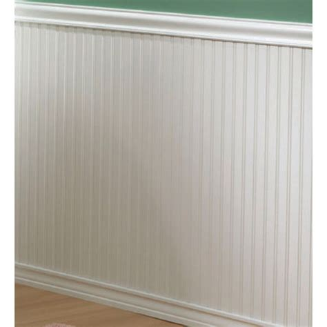 Vinyl Wainscoting Panels Lowes by Evertrue 8 Ft White Wall Panel Moulding At Lowes