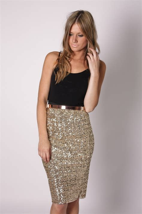 Sparkly Look It Or It by Time Goes By Gold Sequin Skirt Let S Go Shopping