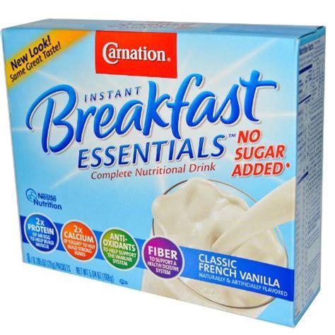 carnation instant breakfast light start carnation instant breakfast no sugar added nutrition facts