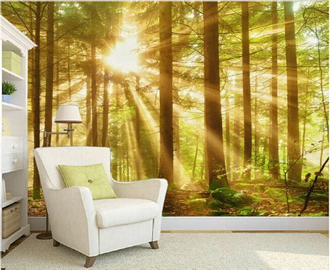 wall murals for bedroom marceladick com custom nature wall murals woods morning scenery paintings