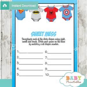 superhero onesie baby shower games d210 baby printables