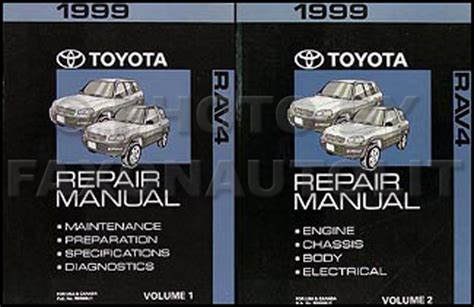 auto repair manual online 1999 toyota rav4 seat position control new 1999 toyota rav4 shop manual 2 volume set original
