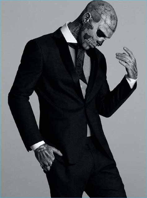 rick genest returns to the spotlight suits up for dtk men