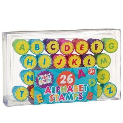 hobby world alphabet stamps pk kids arts crafts bm