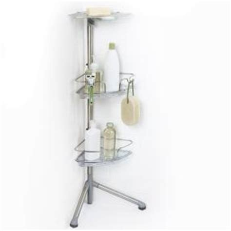 B Q Shower Caddy by Oxo Grips Stainless Steel Corner Standing