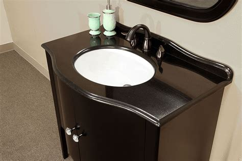 Bathroom Vanities With Granite Countertops Bellaterra Home 203037 Black Bathroom Vanity Black Granite Countertop