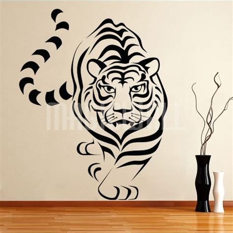 tiger wall stickers white tiger wall stickers t wall decal
