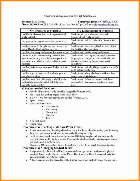 3 classroom management plan template driver resume