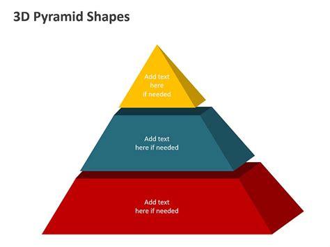 3d Pyramid Shapes Editable Ppt Template 3d Pyramid Powerpoint