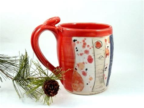 Handmade Ceramic Mugs - custom handmade ceramic tea mug by blue sky pottery