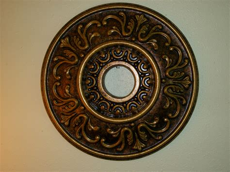 painting a ceiling medallion painted tuscan 18 quot ceiling medallion bronze antique