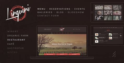 themeforest grand restaurant linguini a classic restaurant wordpress theme by forqy