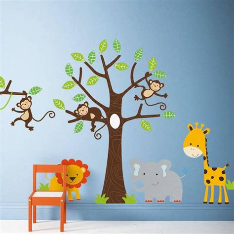 Decorating Ideas For Jungle Themed Nursery Wall Stickers Parkins Interiors