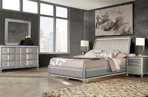 steve silver ress midtown bedroom set  platinum bling dallas designer furniture