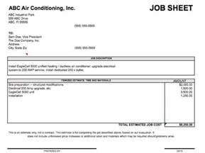job sheet template microsoft excel templates