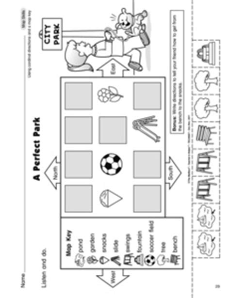 cardinal directions printable worksheets cardinal directions worksheet for kindergarten map