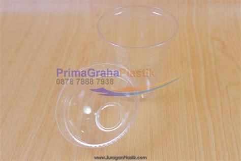 Cup Plastik Polos 5gr 12oz 16oz Khusus Sablon sip cup 8 oz tutup dome flat stock ready home