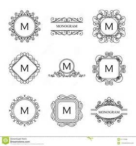 free wedding logo template set of outline monograms and logo design templates stock