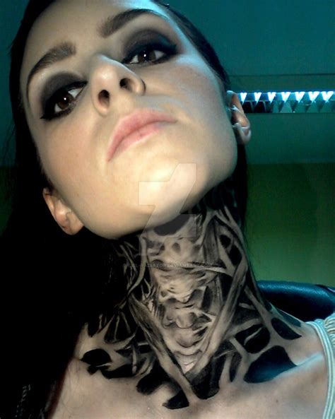 49 elegant evil neck tattoos