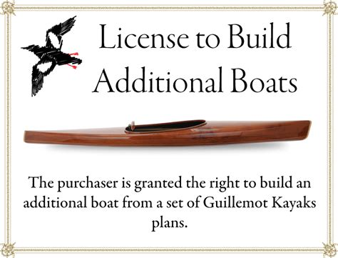 licensetobuild com license to build an additional boat guillemot kayaks