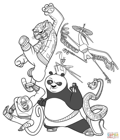colouring pictures kung fu panda kung fu panda coloring page free printable coloring pages