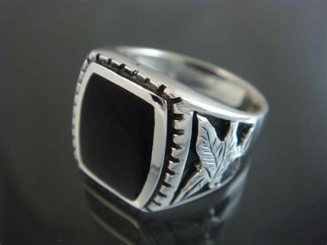 925 sterling silver s german eagle black genuine onyx