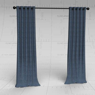 emery drapes emery linen drapes 3d model formfonts 3d models textures
