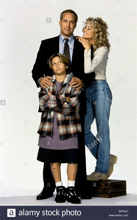 man of the house 1995 chevy chase farrah fawcett jonathan taylor thomas man of the house stock photo